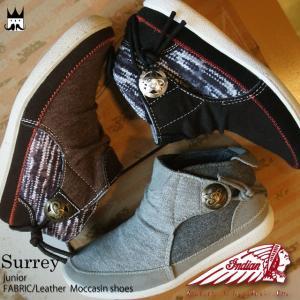 インディアン INDIAN 男の子 女の子 子供靴 キッズ ジュニア ブーツ IND-13301 サレー Surrey ショートブーツ ハイカット スニーカー コンチョ 男児 女児|smw