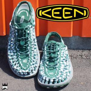 キーン KEEN 靴 ユニーク フラット メンズ サンダル UNEEK FLAT オープンエアスニーカー レジャー 夏 水辺 海 川 スポーツサンダル スポサン グリーン 緑 smw