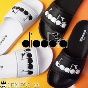 ディアドラ DIADORA セリフォス '90 メンズ レディース シャワーサンダル 173880 SERIFOS'90 シャワサン コンフォートサンダル スライド 0013 ブラック 0006|smw