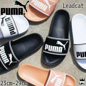 プーマ PUMA リードキャット メンズ レディース シャワーサンダル 360263 Leadcat コンフォート スポーツサンダル 01 ブラック-ホワイト 08 ホワイト-ブラック|smw