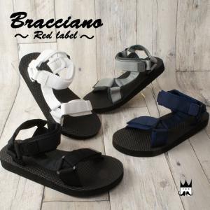 ブラチアーノ Bracciano メンズ サンダル BR7384 ネオプレーンベルト スポーツサンダル カジュアルシューズ ベルクロ 夏|smw