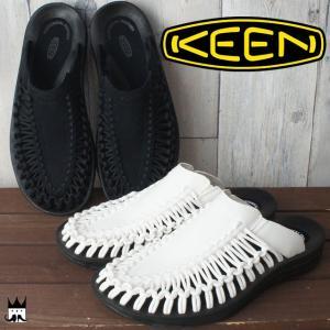 キーン KEENユニーク スライド メンズ サンダル UNEEK SLIDE レジャー スポーツサンダル スリップオン オフィス ブラック ホワイト 1017218 1017222|smw