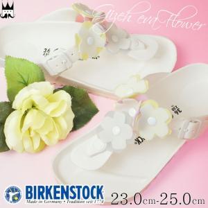 ビルケンシュトック BIRKENSTOCK ギゼ EVA フラワー レディース サンダル 1009226 Gizeh Flower トングサンダル ノーマル幅 コンフォートサンダル 花 ホワイト|smw