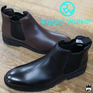 リーガルウォーカー REGAL WALKER 靴 メンズ ブーツ 284W ショートブーツ ゴアテックス ブラック ダークブラウン|smw