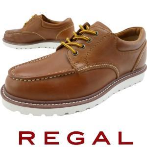 リーガル REGAL メンズ 56NR AH アメリカン ワークシューズ 4アイレット 替え紐付 ブラウン|smw