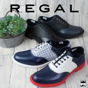 リーガル REGAL 靴 メンズ レインシューズ 69KR サドルシューズ 雨 梅雨 ビジネス 通勤 紳士靴 コンビカラー RAIN レイン|smw