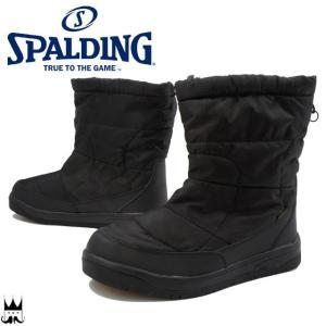 スポルディング SPALDING メンズ スノーブーツ スノーフィールド ウインターブーツ 4E 軽量 防水 吸湿発熱 抗菌 防臭 雪 防寒 ブラック 黒 BLACK