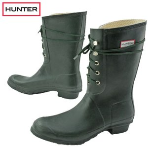 ハンター HUNTER レインブーツ メンズ W23608 オリジナル レース ラバーブーツ レースアップ 雨 雪 ロングブーツ 長靴 smw