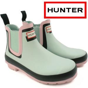 ハンター HUNTER レインブーツ レディース WFS2040RMA W オリジナル チェルシー シャドウ プリント サイドゴアブーツ ショートブーツ 防水 smw