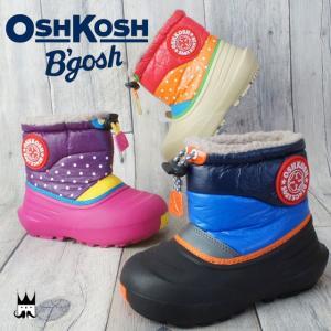 オシュコシュ OSHKOSH 男の子 女の子 子供靴 ベビー キッズ チャイルド スノーブーツ OSK WC141 ウインターブーツ 防寒 防水機能 雪 ボア モコモコ カラフル|smw