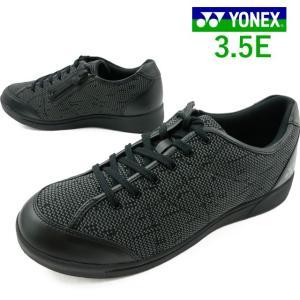 ヨネックス YONEX ウォーキングシューズ メンズ SHW-MC100 ローカット スニーカー 3.5E パワークッション ブラック|smw