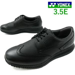 ヨネックス YONEX ウォーキングシューズ メンズ SHW-MC105 ビジネスシューズ ウイングチップ 3.5E ブラック|smw