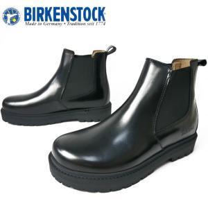 ビルケンシュトック BIRKENSTOCK スタロン サイドゴアブーツ レディース 1010771 ナロー幅 ショートブーツ ブラック|smw