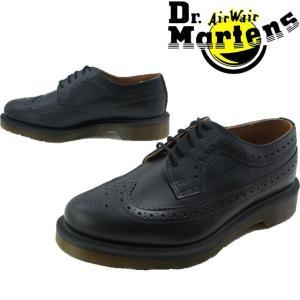 ドクターマーチン Dr.Martens 3989 メンズ レディース  13844001 ウイングチップ メダリオン オックスフォードシューズ 革靴 ブラック|smw