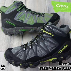 オボズ Oboz メンズ トレッキングシューズ 21601 トラバース ミッド ビードライ ミッドカット 防水 登山 山登り ダークシャドウ グリーン|smw