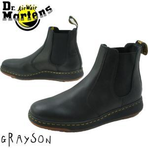 ドクターマーチン Dr.Martens グレイソン サイドゴアブーツ メンズ レディース 23881001 ショートブーツ チェルシーブーツ ブラック|smw