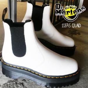 ドクターマーチン Dr.Martens 2976 QUAD サイドゴアブーツ メンズ レディース 25055100 チェルシーブーツ ショートブーツ ホワイト|smw
