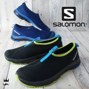 サロモン SALOMON メンズ スリッポン RX モック 3.0 MOC リカバリーシューズ トレーニング リラックス クッション性 通気性 392440 392441 ブラック ブルー|smw