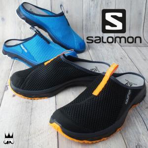 サロモン SALOMON メンズ サンダル RX スライド 3.0 SLIDE クロッグサンダル スリッポン リラックス クールダウン 392442 392443 ブラック ブルー|smw