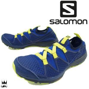 サロモン SALOMON メンズ ウォーターシューズ クロスアンフィビアン CROSSAMPHIBIAN 水場 水辺 アクティブ アクアシューズ 伸縮性 速乾性 ブルー 青 394706|smw