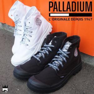 パラディウム PALLADIUM パンパ ハイ メンズ スニーカー PAMPA HI 70周年記念モデル ハイカット スニーカーブーツ 替え紐付き ホワイト ブラック 72352|smw