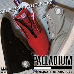 パラディウム PALLADIUM クラッション パドル TPZ メンズ レディース スニーカー 75504 CRUSHION PUDDLE ハイカット 防水 684 レッド 071 グレー 060 ブラック|smw