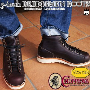 チペワ CHIPPEWAメンズ ブーツ 1901G38 5' CORDOVAN LACE-TO-TOE BRIDGEMEN 5インチブーツ レースアップブーツ ショートブーツ ショート丈 本革 レザー|smw
