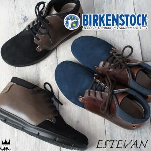 ビルケンシュトック BIRKENSTOCK エステバン メンズ 1001029 1001031 ノーマル幅 ショートブーツ レースアップブーツ ESTEVAN スエード レザー|smw