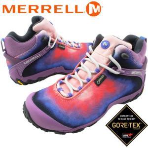 メレル MERRELL カメレオン7 ストーム XX ミッド ゴアテックス レディース ハイキングシューズ J11940 パープル トレッキングシューズ 防水 透湿|smw