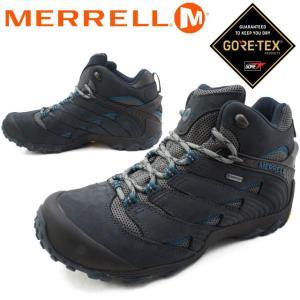 メレル MERRELL カメレオン7 ミッド ゴアテックス メンズ ハイキングシューズ J31151 ネイビー トレッキングシューズ GORE-TEX 防水|smw