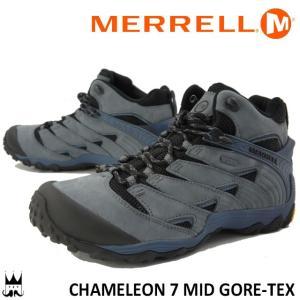 メレル MERRELL カメレオン 7 ミッド ゴアテックス メンズ トレッキングシューズ J98277 CHAM MID GTX CHAMELEON GORE-TEX 防水 キャッスルロック smw