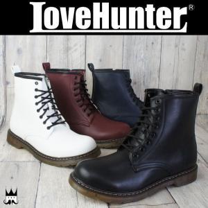 ラブハンター LOVE HUNTER 靴 メンズ ブーツ 1702 レースアップブーツ 8ホールブーツ クリアソール バウンシングソール 編み上げブーツ ショート丈|smw