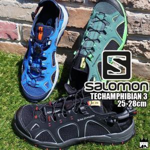 サロモン SALOMON メンズ ウォーターシューズ 394703 128478 394704 TECHAMPHIBIAN 3 テックアンフィビアン3 ハイクシューズ サンダル スニーカー 水陸両用|smw