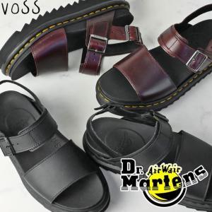 ドクターマーチン Dr.Martens VOSS サンダル レディース 23802001 23804211 厚底 コンフォートサンダル レザーサンダル ブラック チャロ|smw