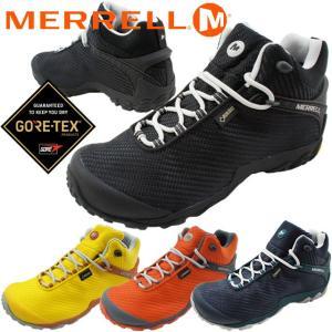メレル MERRELL カメレオン 7 ストーム ミッド ゴアテックス メンズ ハイキングシューズ J38559 J38561 J31127 J38563 ブラック ネイビー オレンジ 防水 透湿|smw