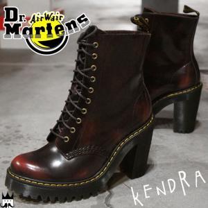 ドクターマーチン Dr.Martens ケンドラ レディース ブーツ 23727600 KENDRA ショートブーツ ハイヒール アンクルブーツ レザー チェリーレッド smw