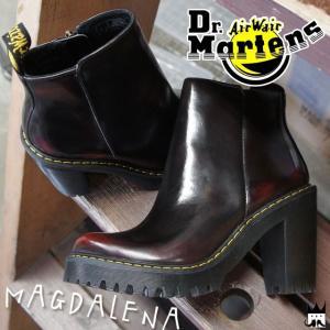 ドクターマーチン Dr.Martens マグダレナ ブーツ レディース 23728600 MAGDALENA ショートブーツ アンクルブーツ レザー ハイヒール チェリーレッド|smw