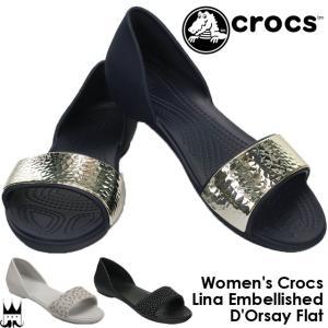 クロックス crocs レディース フラットシューズ 204...