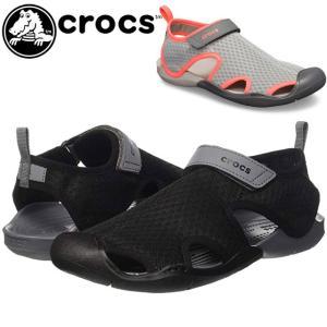 クロックス crocs アクアシューズ レディース 204597 スウィフトウォーター メッシュ サンダル ウィメン マリンシューズ ウォーターシューズ|smw