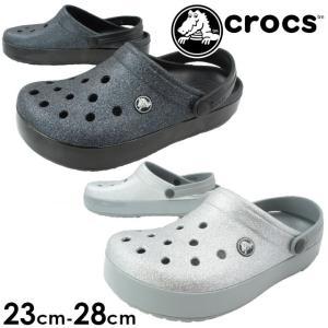 クロックス crocs クロックバンド グリッタークロッグ メンズ レディース クロッグサンダル 205419 サボサンダル コンフォートサンダル|smw