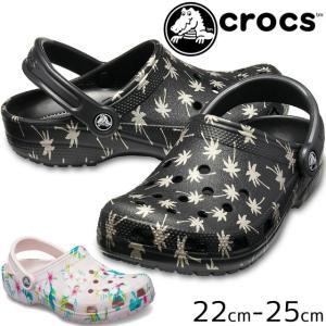 クロックス crocs クロッグサンダル レディース 205706 クラシック シーズナル グラフィック クロッグ コンフォートサンダル サボサンダル|smw