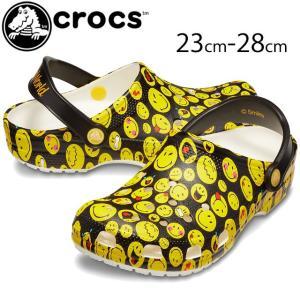 クロックス crocs クロッグサンダル メンズ レディース 205714 クラシック スマイリー クロッグ コンフォート マルチ|smw