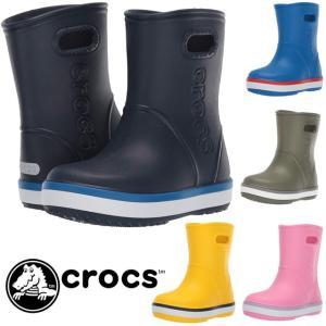 クロックス crocs レインシューズ 男の子 女の子 子供靴 キッズ ジュニア 205827 クロックバンド レインブーツ k 長靴|smw