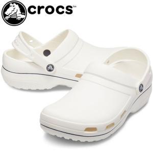 クロックス crocs クロッグサンダル メンズ 205883 スペシャリスト2 ベント カラーブロック ワークシューズ 病院 医療施設 仕事履き ホワイト/ネイビー|smw