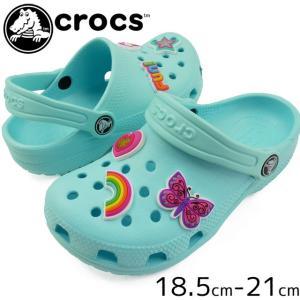 クロックス crocs クロッグサンダル 女の子 子供靴 キッズ ジュニア 205947 クラシック チャーム クロッグ gs コンフォートサンダル ガーリー 水辺|smw