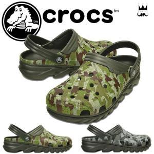 クロックス crocs デュエット マックス カモ クロッグ...