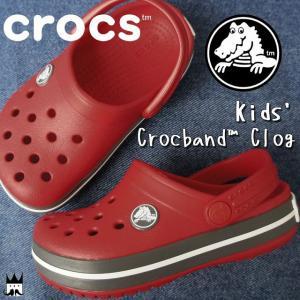 クロックス crocs クロックバンド キッズ サンダル 204537 6IB レッド 赤 男の子 女の子 子供靴|smw