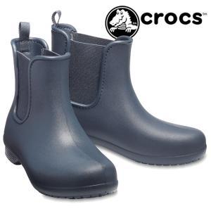 クロックス crocs フリーセイル チェルシーブーツ w レディース レインブーツ 204630 463 ネイビー サイドゴアブーツ 防水 ショートブーツ|smw