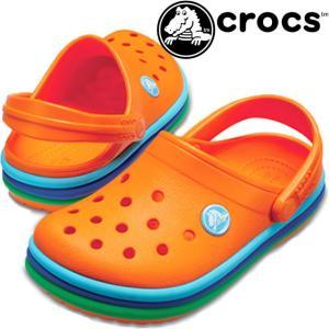 クロックス crocs クロッグサンダル メンズ レディース 205212 cb レインボーバンド クロッグ コンフォート|smw