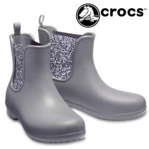 クロックス crocs サイドゴアブーツ レディース 204630 freesail chelsea boot w レインブーツ 防水 ショートブーツ フリーセイル チェルシーブーツ|smw